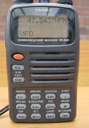 Yaesu Vr 500 yaesu vr 500 scanning receiver review transmission1