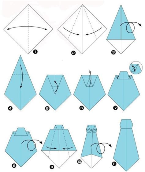 How To Make A Tie Out Of Paper - shirt origami the best father s day present diy is