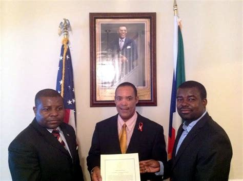 Rice Mba Ambassador by The Bajan Reporter Equatorial Guinea Recognized At White