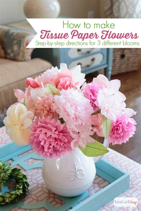 How To Make Different Types Of Flowers With Paper - how to make tissue paper flowers atta says