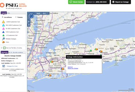 pse g outage map pseg island uses municipal portal to improve outage