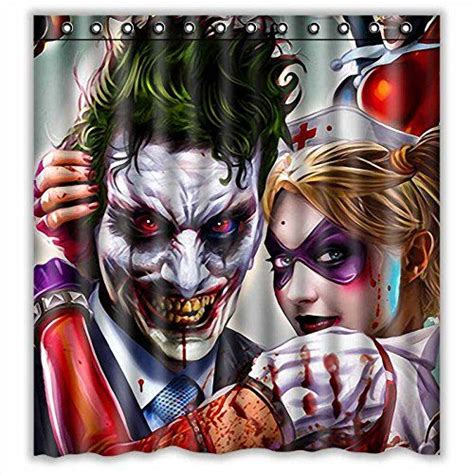 harley quinn quilt fabric custom joker and harley quinn waterproof polyester fabric
