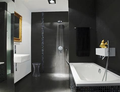 modern black and white bathroom tile designs black bathroom