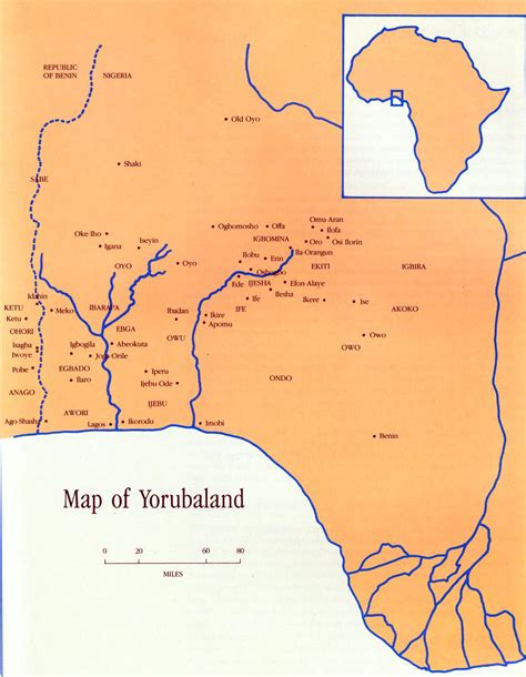 yoruba africa map yorubaland william fagg