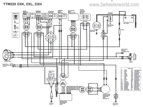 87 yamaha warrior 350 wiring diagram get free image