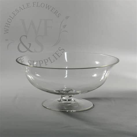 footed glass bowl 10 5 quot wholesale flowers and supplies