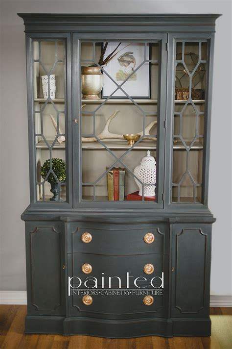 25 best ideas about china cabinet painted on