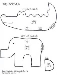 sewing templates for stuffed animals free stuffed animals pattern elephant and alligator