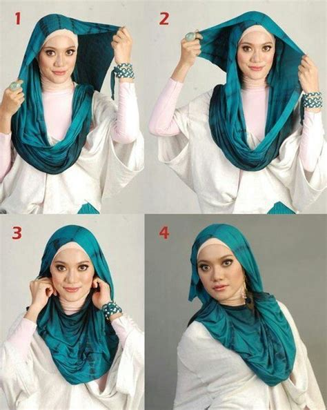 Simple Hijab Style With Earrings