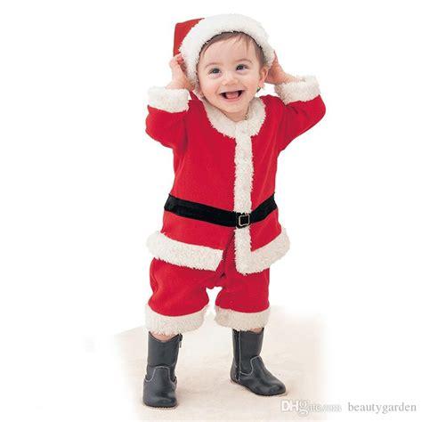 Dress Santa Kidos baby clothes santa claus suit dress hat boys
