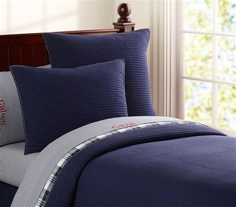 pottery barn boys bedding kingston quilted bedding pottery barn kids