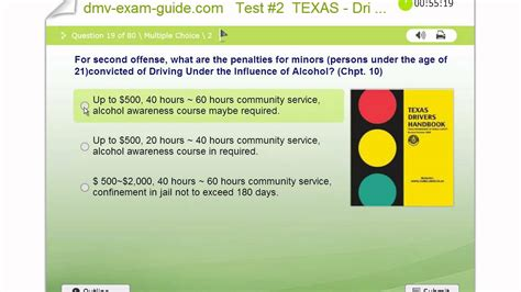 drive questions texas driver permit exams practice test 2 part a