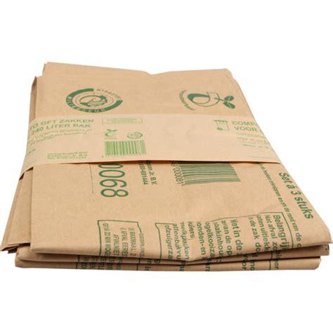 papieren l afvalzak papier 240l 105x120cm bruin 249802