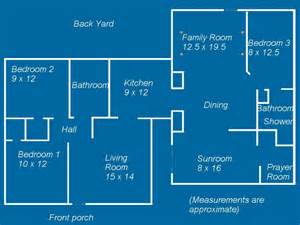 House Design Plans With Measurements by Floorplans Tempetrees