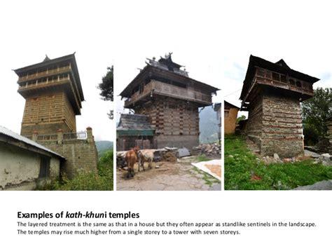 Kath khuni architecture of Himachal Pradesh, India