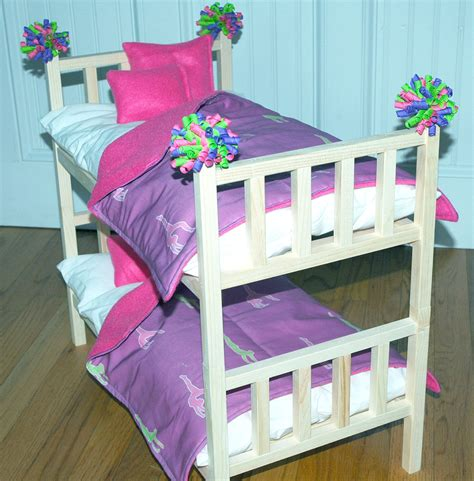 beds for dolls doll bed mckenna bunk bed with gymnastics bedding by