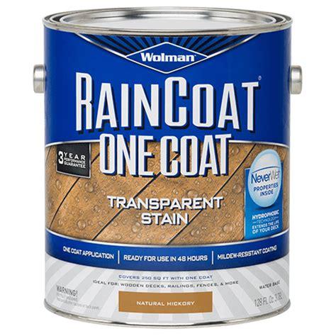 wolman raincoat  coat transparent stain product page