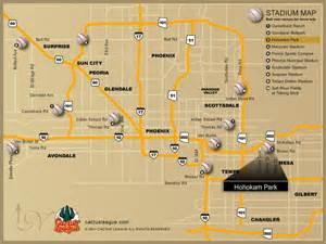 arizona map stadiums cubs 2012 stadium cactus league map and