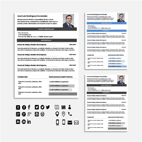 Plantilla De Curriculum Vitae En Linea 50 Tipos De Curriculum Vitae Para Diferenciarte De Tu Competencia Con 2 S 250 Per Packs