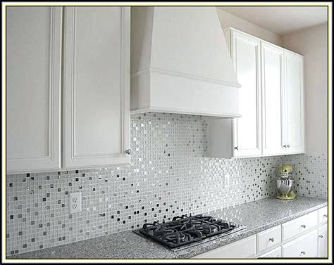 white mosaic tile backsplash modern white mosaic