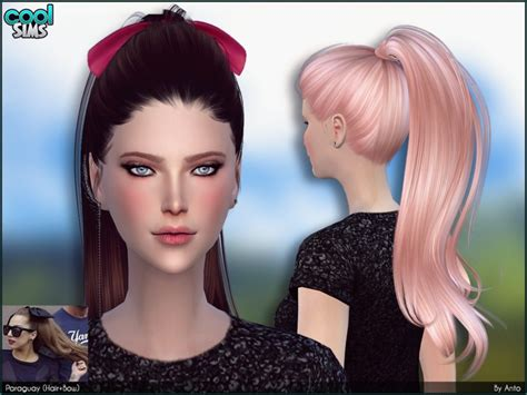 sims 3 custom content females hair bow anto paraguay hair bows