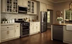 Kitchen Cabinets Vermont Lg Debuts Black Stainless Steel Kitchen Appliances