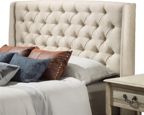 tufted wingback headboard queen allen wingback queen full tufted fabric headboard
