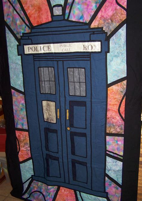 Tardis Quilt Block by Sharlzndollz Craft Idea Tardis Quilt Inspired By Doctor Who