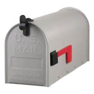 home depot mailbox gibraltar mailboxes standard steel ribbed post mount