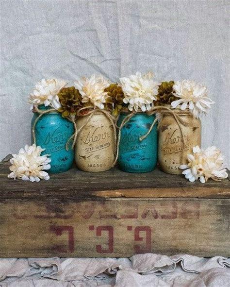 best rustic teal decor products 1000 ideas about mason jar vases on pinterest mason