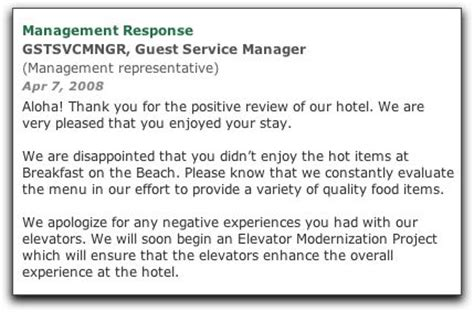 Apology Letter From Hotel Manager 9 Hotel Reputation Management Tips For An Awesome Tripadvisor Profile Guestcomment