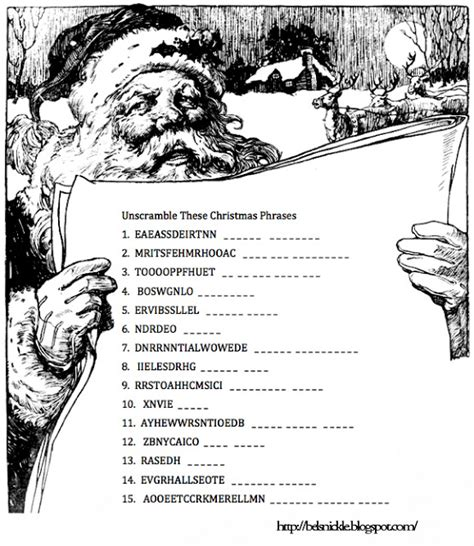 unscramble these christmas phrases belznickle blogspot