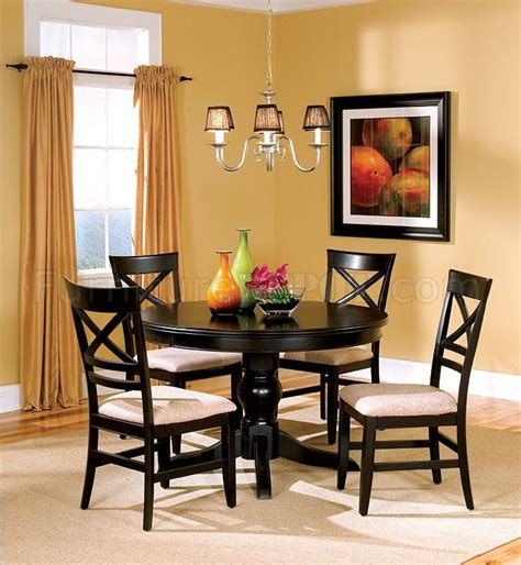 round black dining room table black finish dining room with round table
