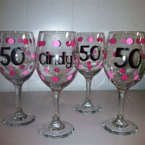 50th Birthday Party Giveaways - 50 birthday wine glasses 50th birthday party favors and ideas pinterest