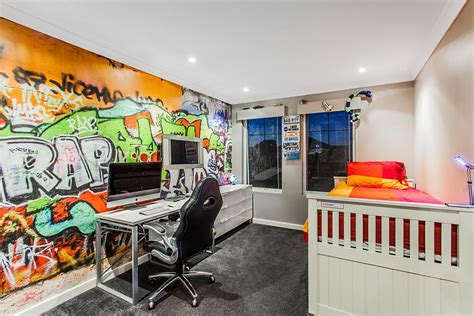 graffiti bedroom wall 30 trendy ways to add color to the contemporary kids bedroom
