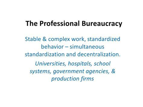 exle of bureaucracy the professional bureaucracy