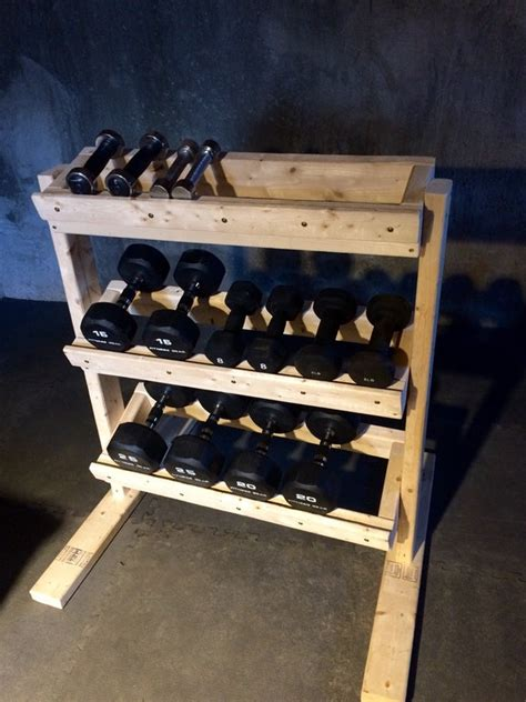 diy dumbbell rack homegym