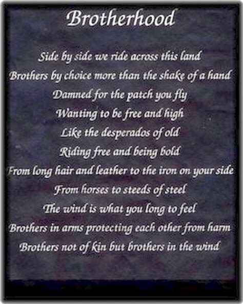 brotherhood in sxoxj mc biker poems