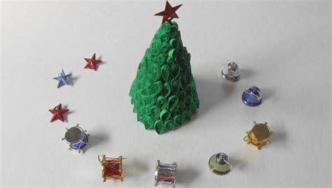 paper quilling christmas tree tutorial 3d quilling christmas tree xmas special tutorial youtube