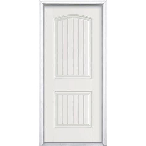 Masonite Fiberglass Entry Doors Masonite 36 In X 80 In Cheyenne 2 Panel Primed Smooth