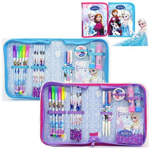 Pencil Set Princess disney frozen stationery set pencil eraser nete sign pen glue princess elsa pencil eraser