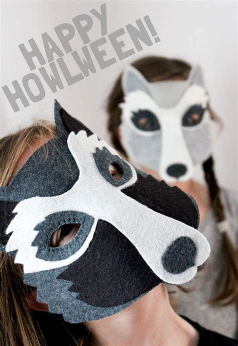 Oh My Handmade - let them howl diy wolf mask tutorial oh my handmade