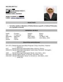 Resume Samples In Pdf by Contoh Resume Terbaik Dalam Bahasa Melayu Samples Of Resumes