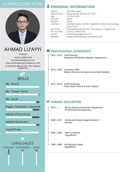 format cv formal best modern format layout curriculum vitae template sle