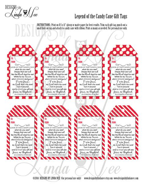 Canes Gift Cards - legend of the candy cane gift tag card for witnessing at christmas jesus is the