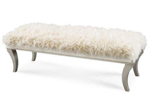 faux fur bench faux fur bedroom bench kate pinterest