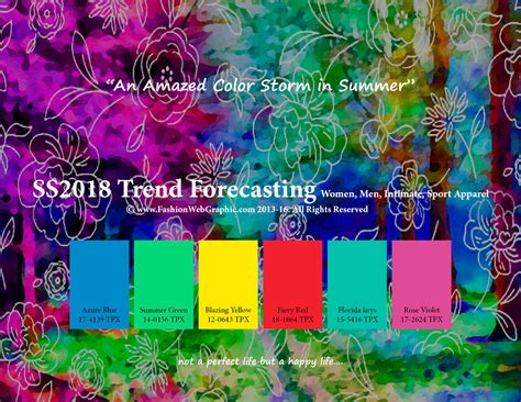 colors of spring spring summer 2018 trend forecasting is a trend color