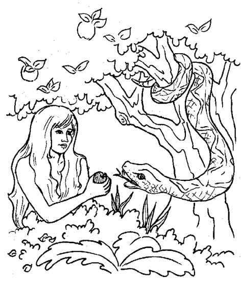 adam and eve coloring pages for kids coloring home