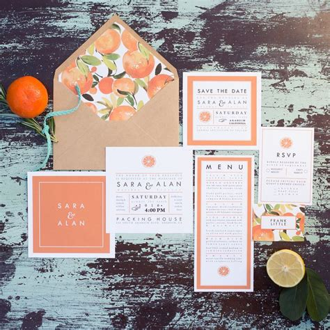 citrus themed wedding invitations 130 best images about wedding color themes on orange flowers wedding receptions