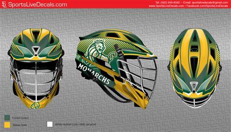 design lacrosse helmet decals lacrosse wraps